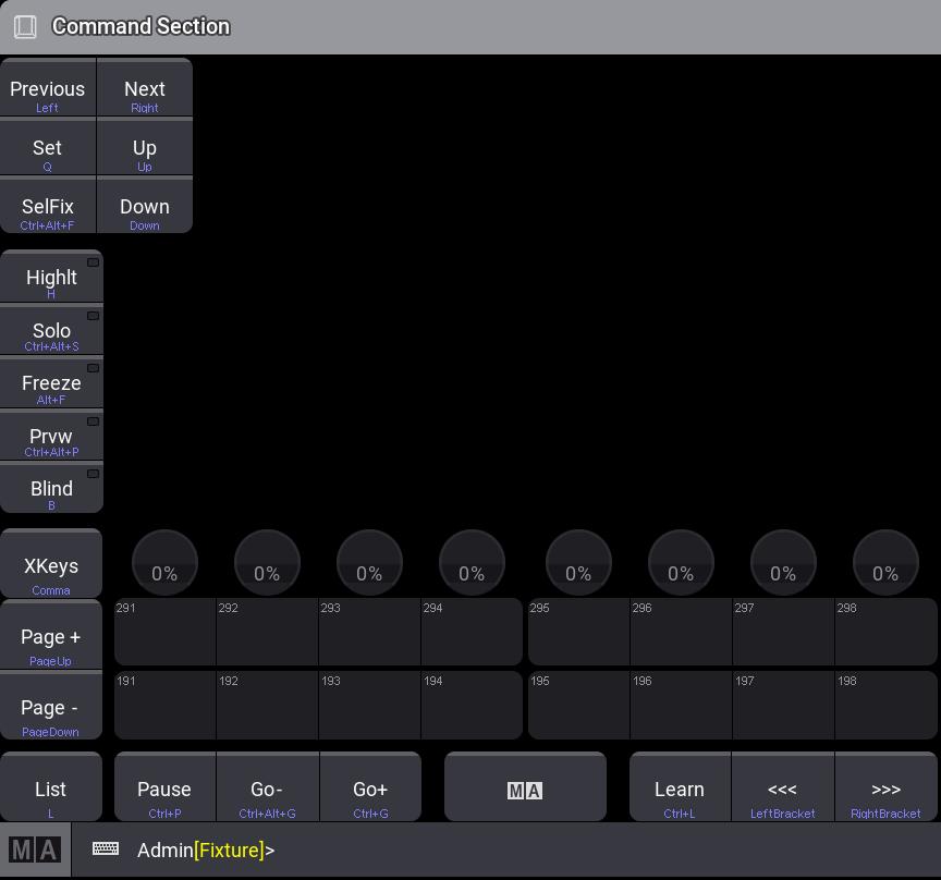 Keyboard Shortcuts - grandMA3 User Manual - Help pages of ...